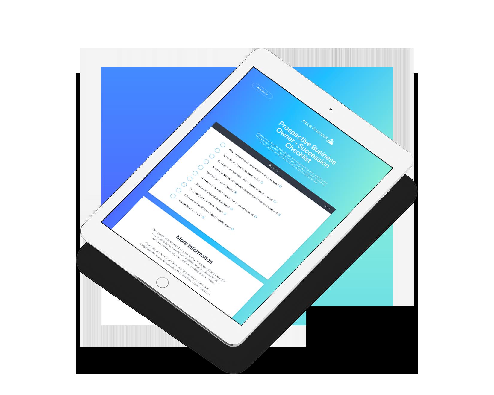 Prospective Business Owner - Succession Checklist
