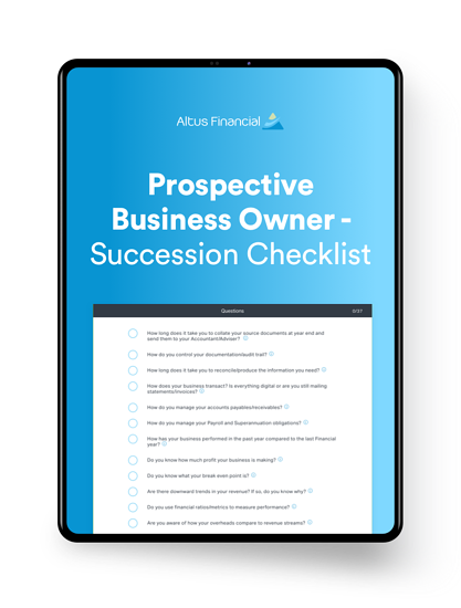 Prospective Business Owner - Succession Checklist_ipad